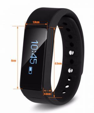 Inteligentný SMART fitness náramok v čiernej farbe