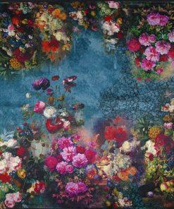 Kvalitná šatka zo 100% hodvábu s motívom kvetov