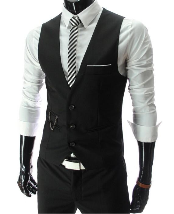 Luxusná pánska vesta ku obleku v čiernej farbe