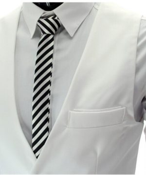Luxusná pánska vesta ku obleku v bielej farbe