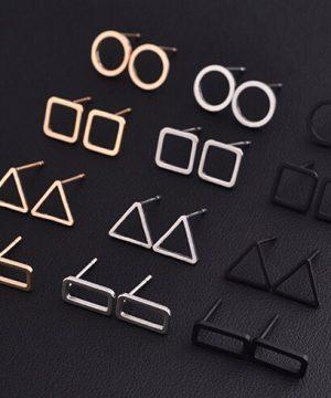 Luxusné piercing náušnice v decentnom tvare vo viacerých farbách