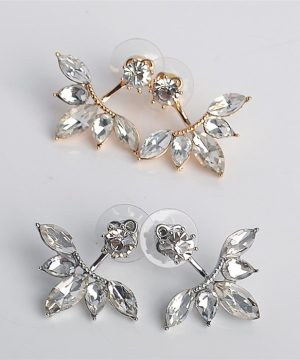 Luxusné piercing náušnice v tvare lístkov vo viacerých farbách
