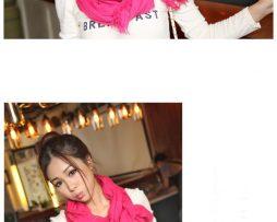Elegantný šál z bavlny a kašmíru v ružovej farbe