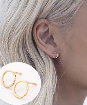 Luxusné piercing náušnice v kruhovom tvare vo viacerých farbách