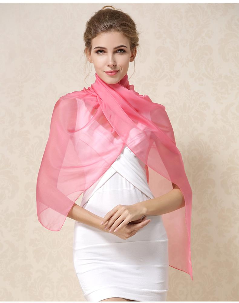 Luxusný veľký hodvábny šál v ružovej farbe  c5d0800f7b1