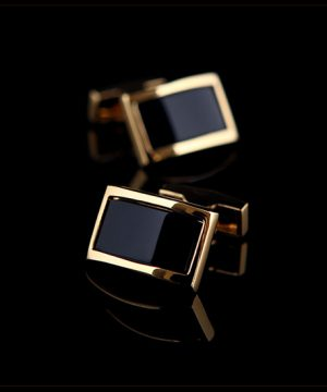Luxusné mohutné zlato - čierne manžety