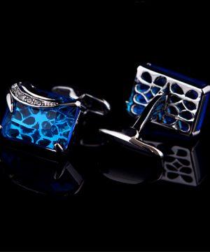 Prepracované dizajnové manžety s modrým kryštálom
