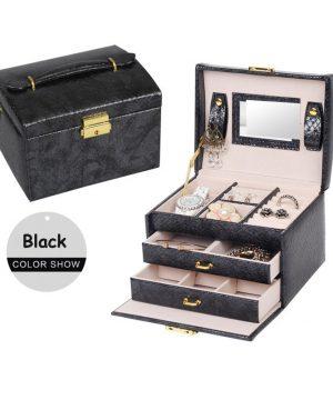 2ebad29438fb1 Luxusná dámska šperkovnica, kufrík na drogériu v koži