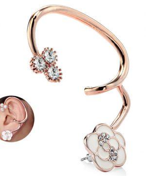 Luxusné decentné piercing náušnice s kvietkom