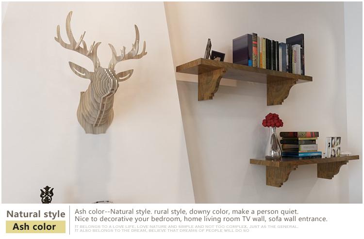 Umelecký drevený 3D obraz s hlavou jeleňa v 9 farbách  988cd59263a