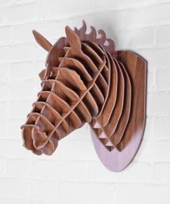 Umelecký drevený 3D obraz s hlavou koňa v 9 farbách