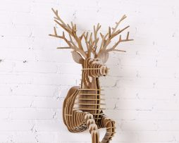 Umelecký drevený 3D obraz bežiaceho jeleňa v 9 farbách