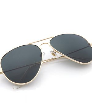 Polarizované unisex slnečné okuliare - pilotky zlaté
