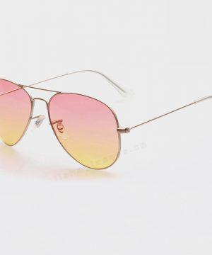 Polarizované slnečné okuliare - pilotky zlato-ružové