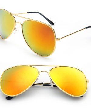 Polarizované slnečné okuliare - pilotky zlaté