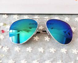 Polarizované slnečné okuliare - pilotky modro-strieborné
