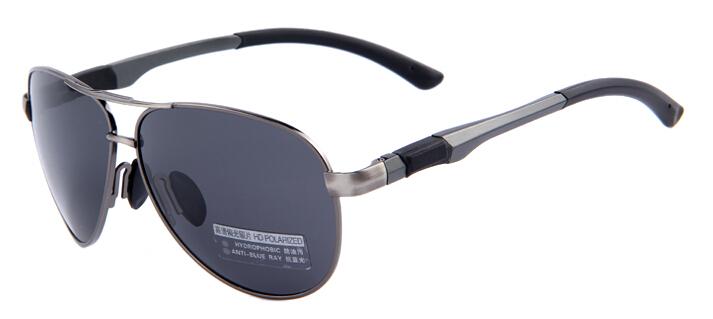 Polarizované štýlové slnečné okuliare – pilotky s čiernym sklom ... 9afe1da87a0