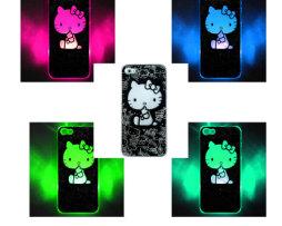 Luxusný svietiaci LED obal na Apple iPhone 5 s motívom Hello kitty