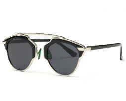 Štýlové polarizované slnečné okuliare - strieborno-čierne