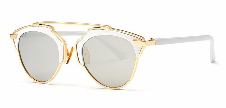 b5862374d Štýlové polarizované slnečné okuliare - zlato-biele · Luxusné a ...