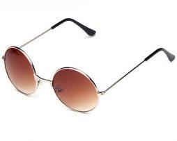 Moderné vintage polarizované slnečné okuliare - hnedé