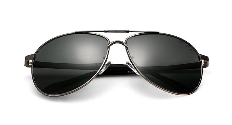 a76cccbf1 Polarizované unisex slnečné okuliare - pilotky strieborné