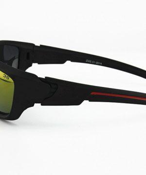 Športové unisex polarizované okuliare - čierno-žlté