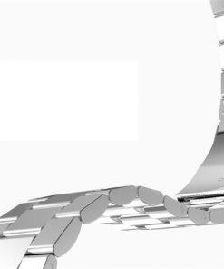 iWatch náramok na Apple hodinky z článkovej ocele - strieborný