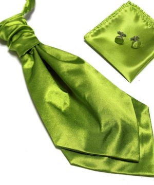 Luxusný pánsky set - ascot kravata, vreckovka a manžetové gombíky n13