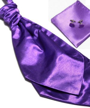 Luxusný pánsky set - ascot kravata, vreckovka a manžetové gombíky n11