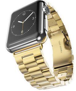iWatch náramok na Apple hodinky z článkovej ocele - zlatý