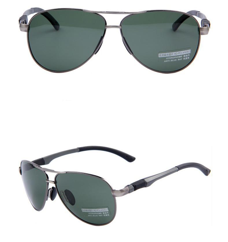 Polarizované štýlové slnečné okuliare – pilotky so zeleným sklom ... 66a31f0ead3