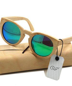 Ekologické bambusové polarizačné okuliare - model08