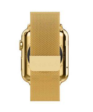 Apple iWatch náramok na Apple hodinky - Milánska oceľ - zlatý