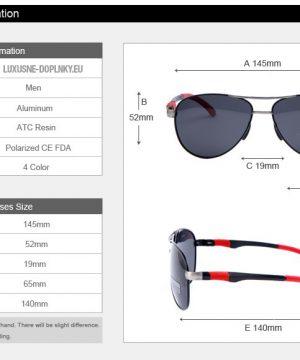 a9b5166c5 Polarizované štýlové slnečné okuliare - pilotky s čiernym sklom