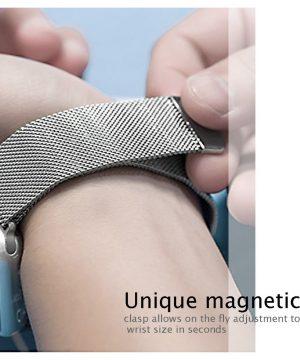 Apple iWatch náramok na Apple hodinky - Milánska oceľ - striebornýApple iWatch náramok na Apple hodinky - Milánska oceľ - strieborný