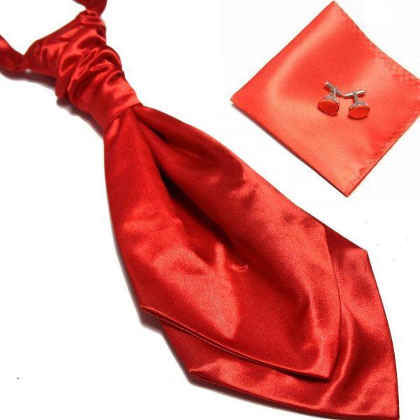 Luxusný pánsky set - ascot kravata, vreckovka a manžetové gombíky n15