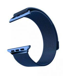 Apple iWatch náramok na Apple hodinky - Milánska oceľ - modrý