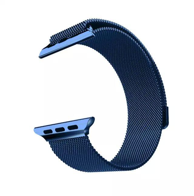 Apple iWatch náramok na Apple hodinky – Milánska oceľ – modrý ... 430a323858d