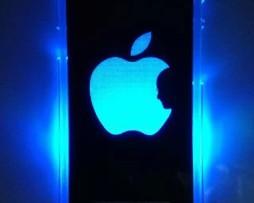 Luxusný svietiaci LED obal na Apple iPhone 5 s motívom Apple