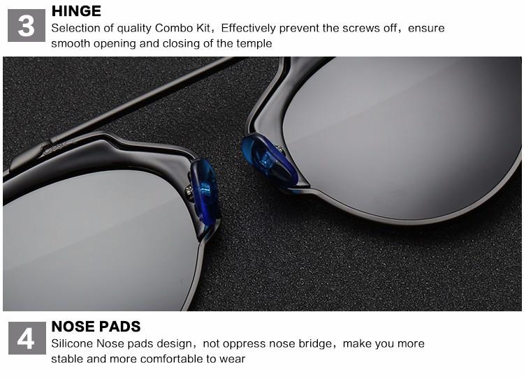 Štýlové polarizované slnečné okuliare - strieborno-čierne 9d2992187ed