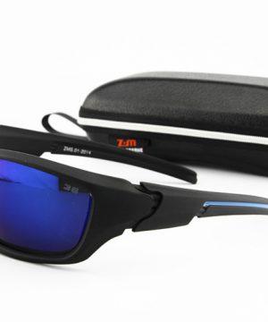 Športové unisex polarizované okuliare - čierno-modré