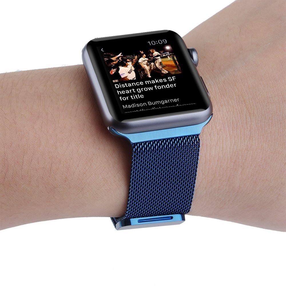 Apple iWatch náramok na Apple hodinky – Milánska oceľ – modrý ... dc1198483ed