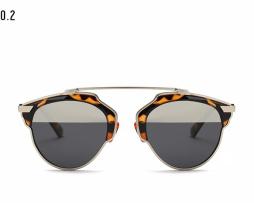 Štýlové polarizované slnečné okuliare - tigrované