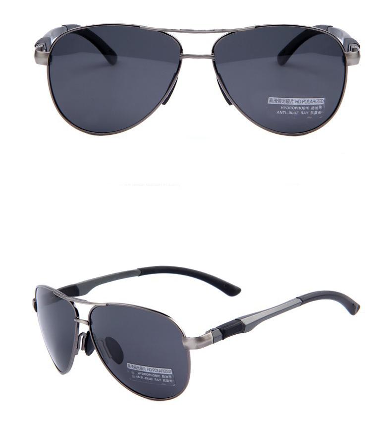 Polarizované štýlové slnečné okuliare – pilotky s čiernym sklom ... 0b35022b465