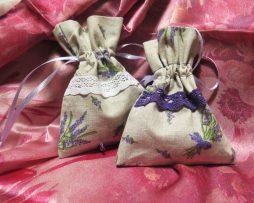 Ručne vyrobené vrecúška s levanduľou - sada 2 ks