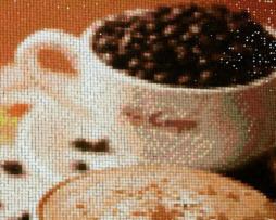 Diamantový obraz s motívom šálok s kávou