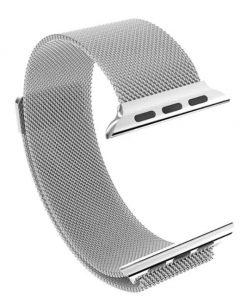 Apple iWatch náramok na Apple hodinky - Milánska oceľ - strieborný