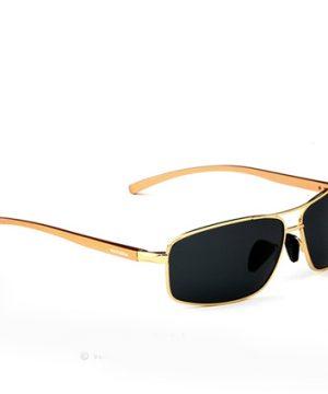 Kvalitné polarizované okuliare z odolnej zliatiny so zlatým rámom