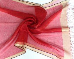 Elegantný dámsky ľahký hodvábny šál - vzor 01